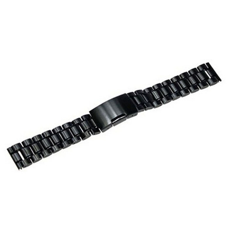 Fabulous 2016 24mm Stainless Steel Bracelet Watch Band Strap Straight End Solid Links Drop Shipping 12.15