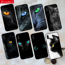 Bioumei ferocious cat eyes animals Soft TPU Case for iphone XR XS Max Cover Coque 7 8 5 5S 6 6S Plus X 22