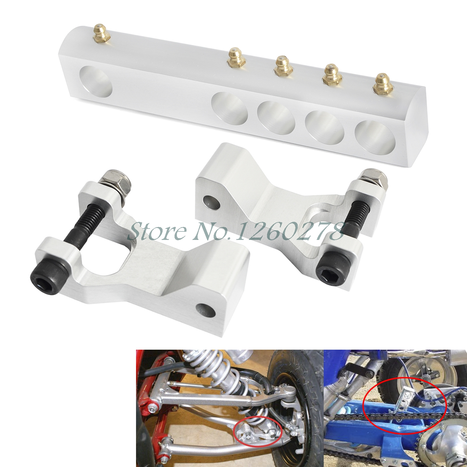 Sliver Front Rear Lowering Kit For Yamaha Warrior 350 YFM350X 1987-2004 Banshee 350 YFZ350 1987-2008 Accessories image
