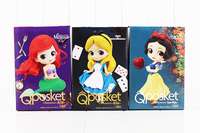 3sytle Q Posket Alice Alice in Wonderland / Ariel The Little Mermaid Snow White PVC Figure Collectible Model Toy