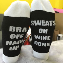 Women Men Unisex Comfortable Pretty Cotton Breathable Splicing Printing Letter Casual Warm Hosiery Socks