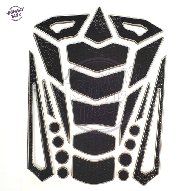 White 3D Scratch Protection Motorcycle Gas Fuel Sticker Tank Pad for Kawasaki Ninja 1000