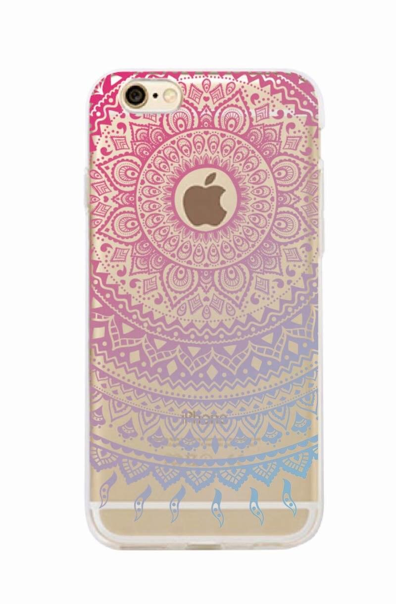 Vintage Indian Floral Henna Mandala Yoga Ethnic Soft Tpu Phone Case Coque Fundas For iPhone 7Plus 7 XS Max 6 6S 5 5S 8 8Plus X