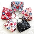 Women Leather Peekaboo Bag Flowers Luxury Handbags Women Bags Famous Brands Designer Messenger Bags Tote Fashion Shouler Bag