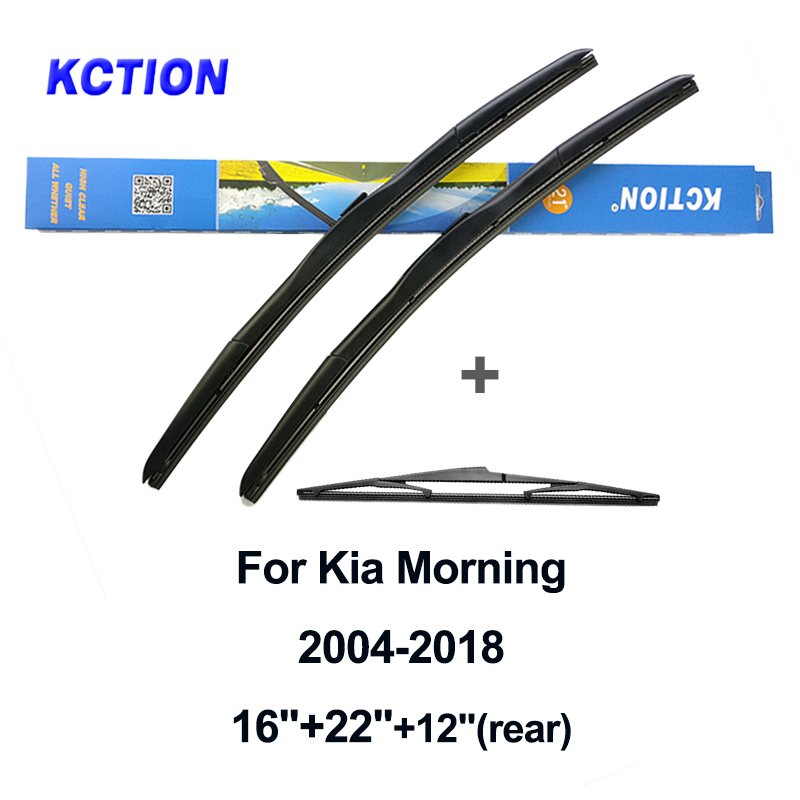 Windshield hybrid wiper blade windscreen wiper natural rubber car accessories for Kia Morning year from 2010 to 2019 Fit U Hook in Windscreen Wipers from Automobiles Motorcycles