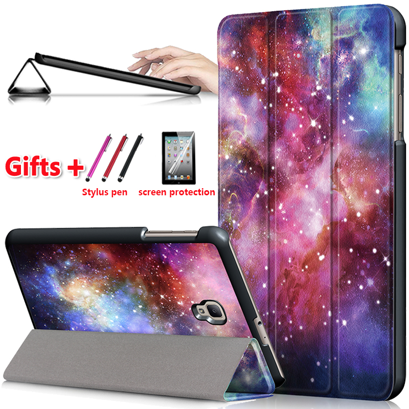 Case Cover For Samsung Galaxy Tab A 8.0 Sm T385 T380 2017 Folio Stand Cover Casefor Samsung Galaxy Tab A2 S SM T380 T385 +Gift