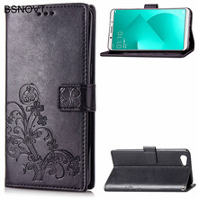 цена на For OPPO A83 Case Soft Silicone Luxury Leather Card Holder Anti-knock Case For OPPO A83 Cover For OPPO A83 Phone Bag Case BSNOVT