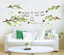 [La Fundecor] 80×200 cm Verde árbol Photo Frame planta ramas pegatinas pared de la sala home decor 6258
