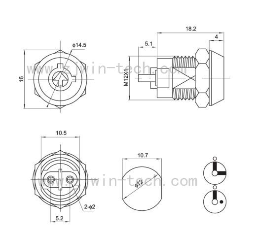 HTB1ts1zQpXXXXbpXVXXq6xXFXXXS - New arrival ( 1PC/PACK) 12mm Metal Key Switch 250V ON/OFF Lock Switch KS Electrical Key Rotary Switch with Keys
