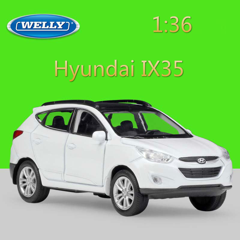 WELLY 1:36 Pull Back Hyundai IX35 Classic Simulation Model Car Diecast Vehicle Alloy Car Metal Toy Car For Kid Gift Collection