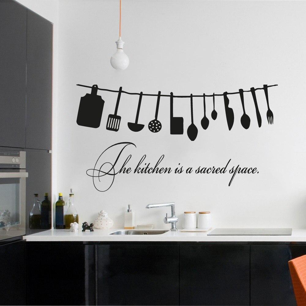 В Кухня является Кухня прибор Ресторан окна кафе Книги по искусству Декор Наклейки на стену дома Кухня кавычки Decortive настенная wm-098 ...