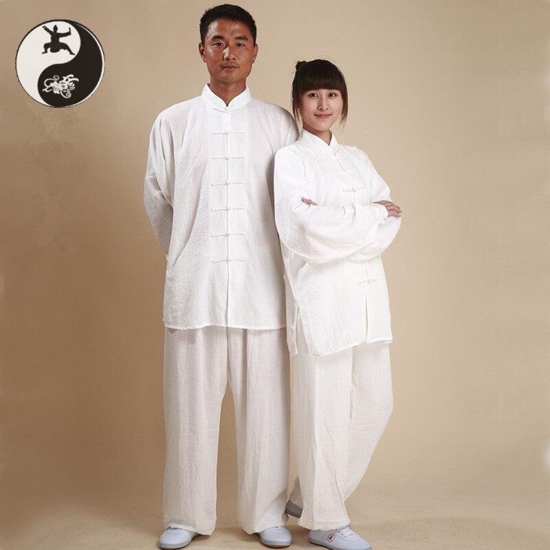 Летние льняные ткани taichi костюмы человек женщины ушу кунг-фу производительность одежда Тайцзицюань показать одежду XXL cool