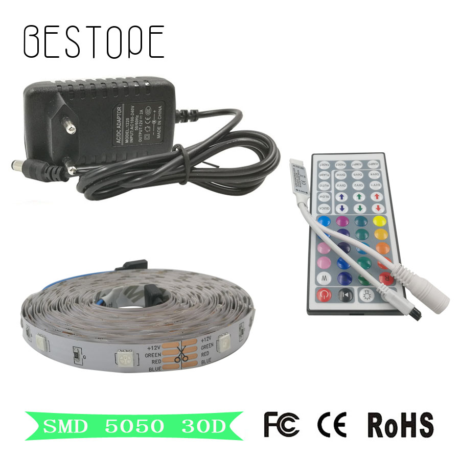 8M 10M 5050 RGB LED Strip 30LED M 5M 4M led light Waterproof Tape DC 12V