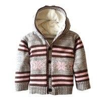 קרדיגן תינוק חורף סלעית עבה צמר חם סתיו משובץ סרוגים סוודר קרדיגן סוודרים לבנות די בנות ילדים בני