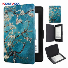 Leather Smart Protective Shell Cover For Amazon Kindle Paperwhite 1/2/3 Auto Wake Up/Sleep 6 Inch Folio Flip Case цена и фото