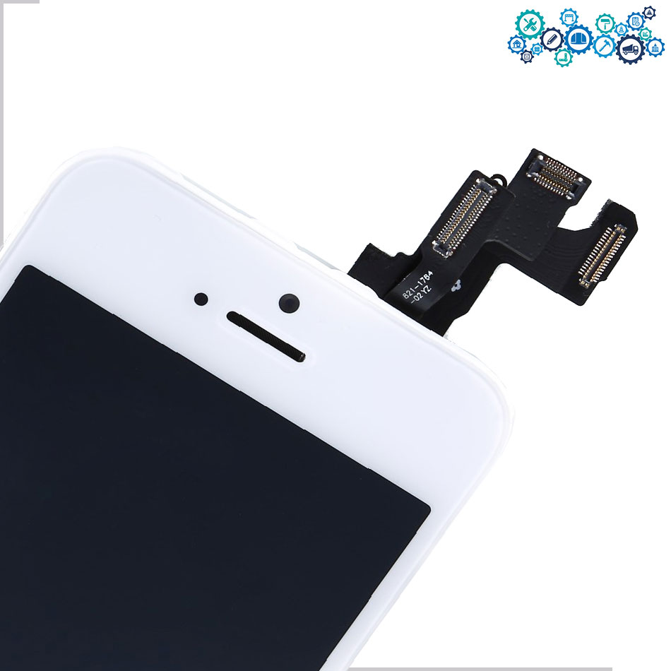 Retina display with front Camera Home Button LCD Touch Screen Digitizer Assembly display for iPhone 5 LCD with Tempered film
