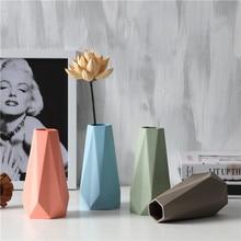 цена на ceramic cerative Minimalist flowers vase pot home decor crafts room weeding decorations handicraft porcelain figurines