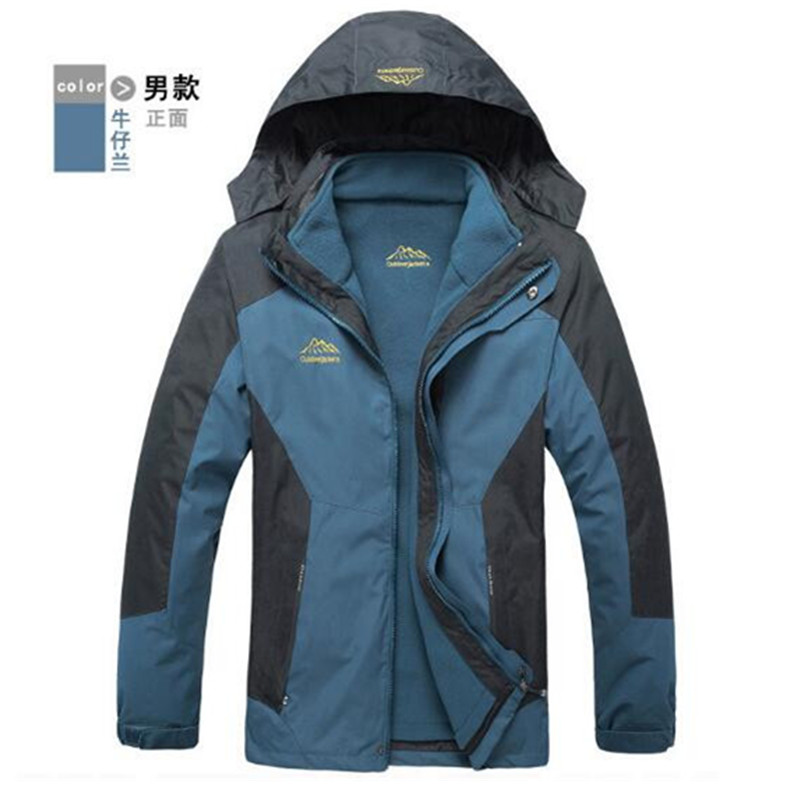 Outdoor Waterproof Climbing Skiing Jacket Windbreaker Men Women Warm Breathable Windproof Sport Outdoor Coat 3 In 1 Warm Jacket сумка складная reisenthel mini maxi travelshopper