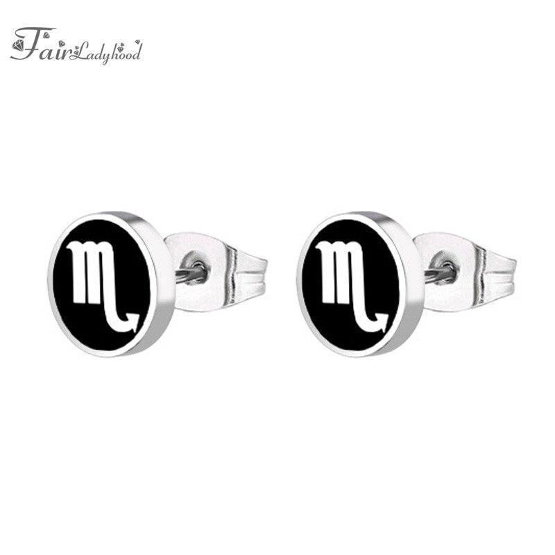FairLadyHood 1pair Scorpio Stud Earrings Stainless Steel ...