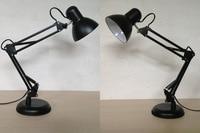 Desk Lamp LED Clip Folding study work table light fixture Long Arm Folding Led Clip Lamp 3 color for selection 110 240V