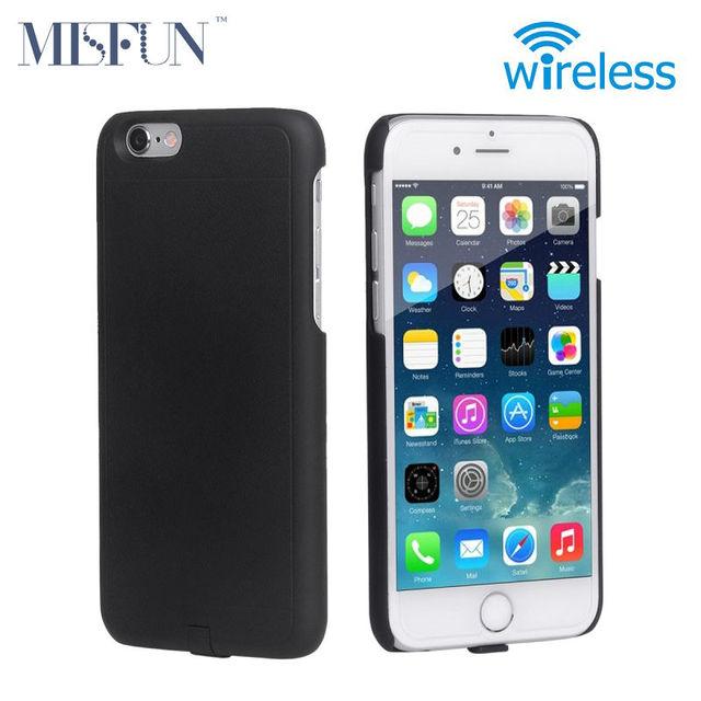 Para iphone 6 6 s qi receptor sin hilos del cargador de alimentación funda transmisor de carga para el iphone 6 plus/6 s plus teléfono móvil caso