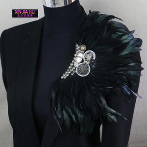 XINJIAHUI Bar Retro Feather Brooch Jewelry Star Products