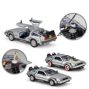 Image 3 - WELLY 1:24 ダイキャストシミュレーションモデル車 DMC 12 Delorean 時間にマシン将来車のおもちゃ金属おもちゃの車のギフトコレクション