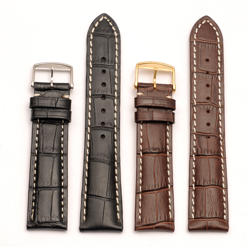 L2/L3/L4 High Quality Genuine Calf Hide Leather Watchband For Longines Watch Strap Band  14mm 18mm 19mm 20mm 21mm Brown Black