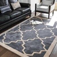 Hand cutting Big size Retro geometric living room rug,big size coffee table carpet , classical home decoration floor mat