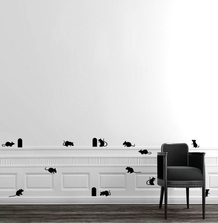 brand new vinyl wall decal mouse hole wall sticker stairs walls diy