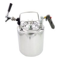 New Arrival 10L 304 Stainless Steel beer Beer Keg High quality brewed beer barrels With a beer faucet tap Inflatable valve Hot