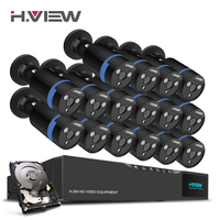 H View 16CH Surveillance System 16 1080P Outdoor Security Camera 16CH CCTV DVR 1TB HDD Kit