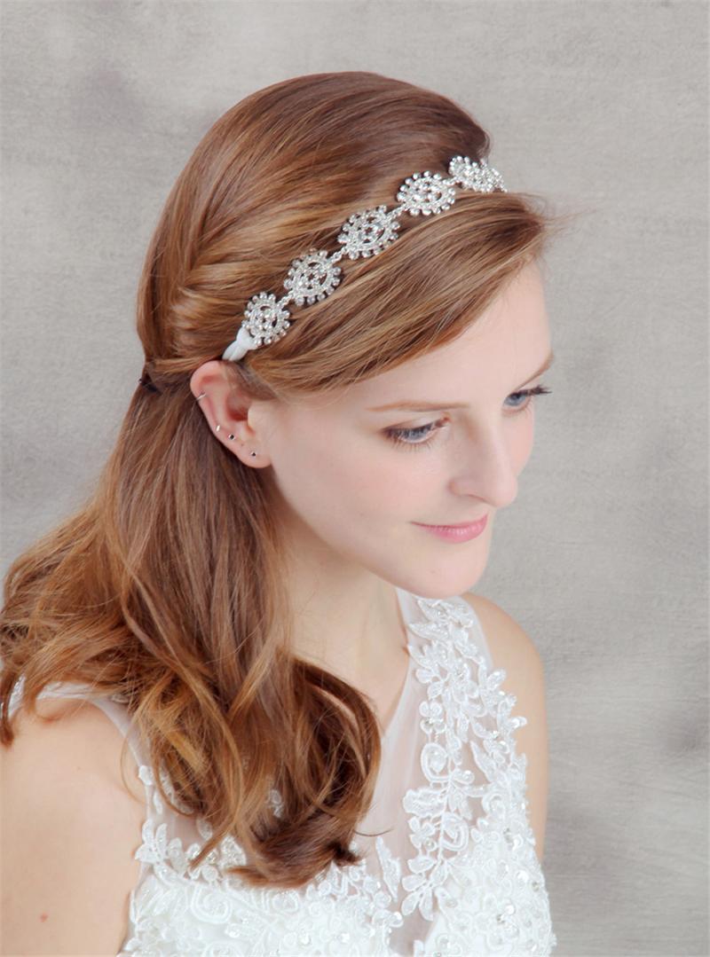 crystal head chain flower hair jewelry headband wedding hair