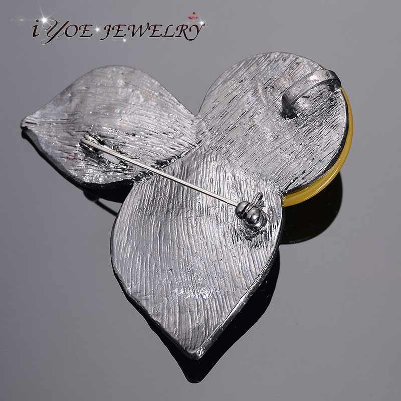 IYOE بالجملة موضة ماركة خمر بروش معدني قلادة مجوهرات متعدد الألوان حجر دبابيس ودبابيس للنساء والرجال