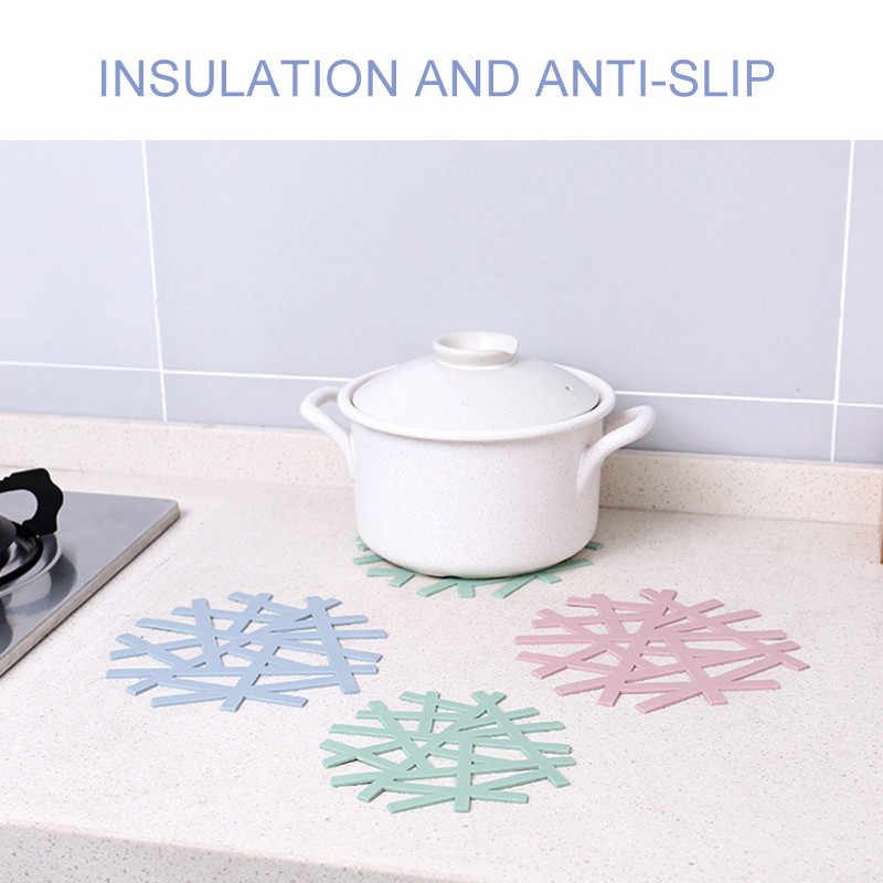 Tea Placemat for dining table Mat silicone placemat coaster flower design kitchen household hollow casserole pad anti-hot mat