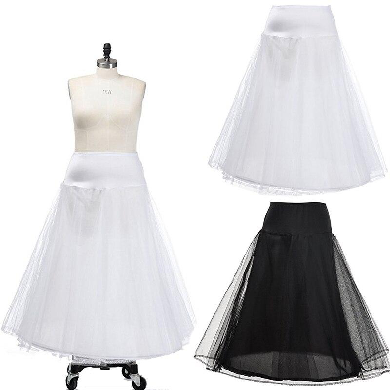 Vintage White Black Tulle Dress 1 Hoop Wedding Petticoat Underskirt Woman Vestidos Para Boda Jupon Fille Accessoire Mariage