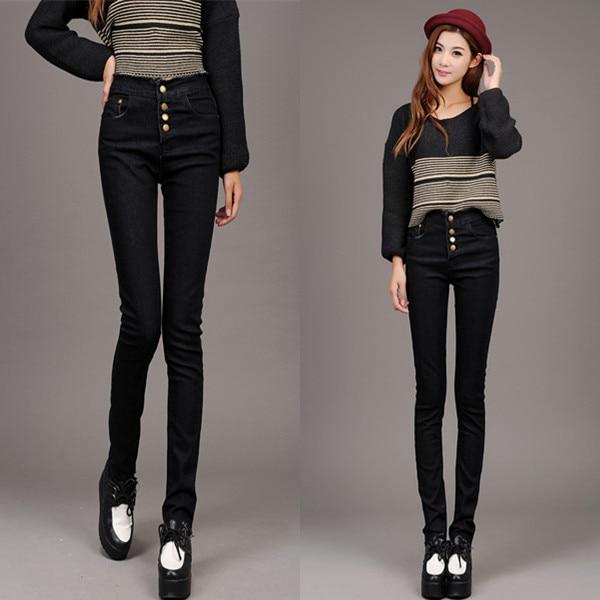 2403f5087ca0 High waist pencil pants jeans casual skinny designer jeans plus size women  pants desigual trousers cheap jeans for big women