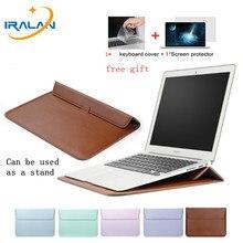f0a62c6c757bd 3 in1 PU Deri Kollu macbook çantası Hava 13 Pro Retina 11 12 15 Dokunmatik  Bar notebook kılıfı Için Xiaomi Pro 12.5 15.6 Kılıf +.