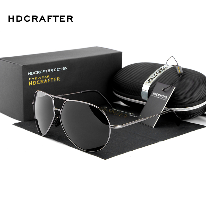HDCRAFTER Brand Sunglasses Men Polarized New Brand Designer Mirror Sunglasses UV400 Sun Glasses for Male Oculos
