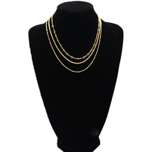 Fashion Tassel Choker Necklace Women Multilayer Metal Hollow Clavicle Chain Necklace Jewelry black metal chain fringe choker necklace