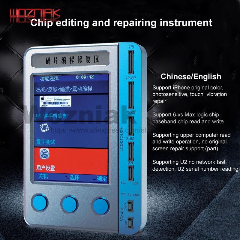 U2 numéro de série lecture rapide pour IPHONE 7 8 8 P X S MAX XR couleur originale photosensible réparation de vibrations LCD programmation tactile