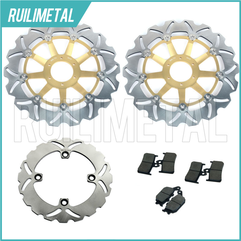 Front Rear Brake Discs Rotors Pads Set for HONDA CBR 900 RR 94 95 96 97 VTR 1000 F SuperHawk Firestorm  98 99 00 01 02 03 04 05 рычаги тросики и кабели для мотоцикла rctoper honda vtr1000f firestorm 98 99 00 01 02 03 04 05