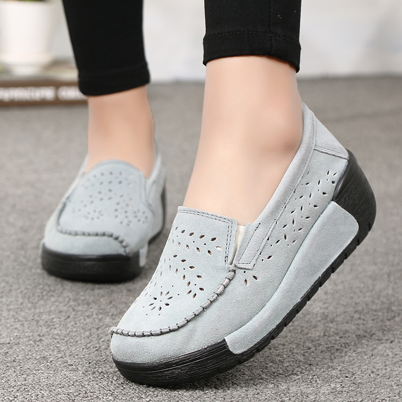 Spring Women Flat  Shoes Breathable Sneakers Platform Wedge Shoes  Women Flats Slip On Loafers Women Casual Moccasins CreepersSpring Women Flat  Shoes Breathable Sneakers Platform Wedge Shoes  Women Flats Slip On Loafers Women Casual Moccasins Creepers