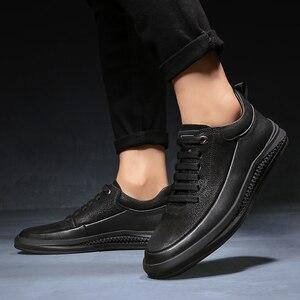 Image 5 - Кроссовки мужские из натуральной кожи, Уличная Повседневная обувь, Нескользящие, дышащие, для прогулок, Осень зима