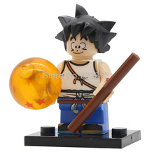 Single Sale JR265 Dragon Ball Figure Z Son Goku Vegeta Master Roshi Krillin Building Block Set Models Toys for Children(China)