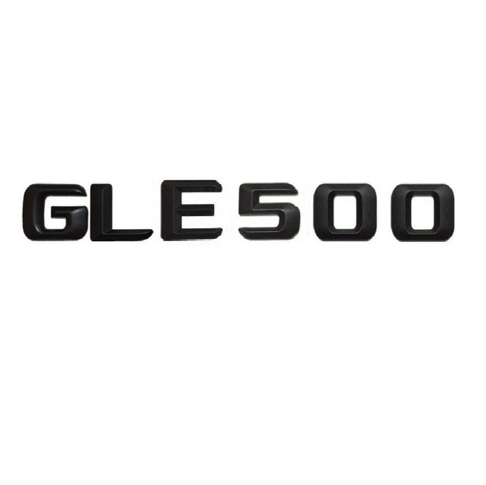 Mat noir gle 500 coffre de voiture arrière lettres mots nombre badge emblème decal autocollant pour mercedes benz gle classe gle500