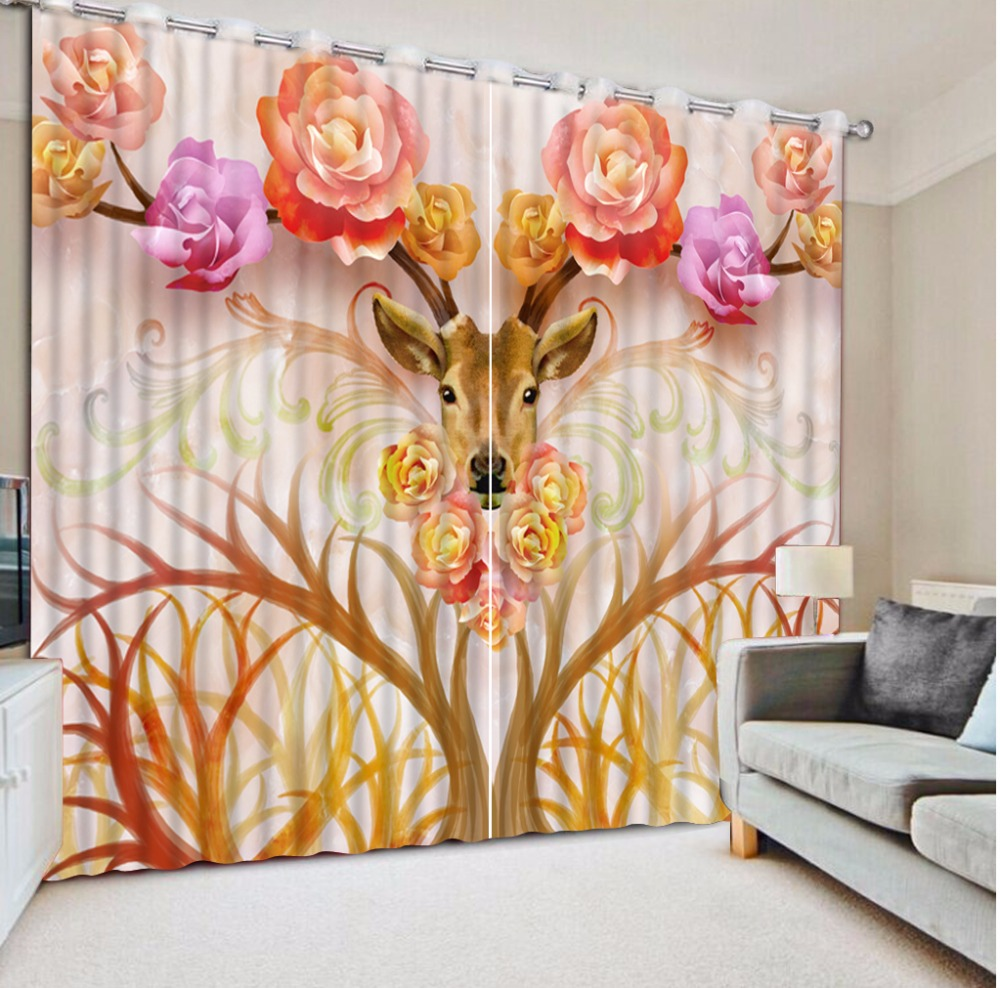 New animal Rose 3D Window Curtain For Living Room Bedroom Girl Room Blackout Curtains Home Decor Hotel Drapes Cotinas Para SaleNew animal Rose 3D Window Curtain For Living Room Bedroom Girl Room Blackout Curtains Home Decor Hotel Drapes Cotinas Para Sale