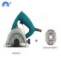 110mm high power stone cutting machine wood cutting granite marble tile mini cutting machine