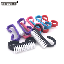 High Quality 10pcs/lot Nail Dust Cleaning Acrylic Brush Plastic Handle DIY Colorful Pinceau Nail Art Manicure Nail Cleaner Tools