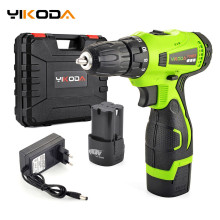 YIKODA Electric-Drill Power-Tools Lithium-Battery Rechargeable Household Double-Speed